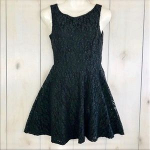 Black Sparkly Sequined Fit & Flare Party Dress